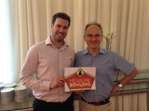 Peter and Nicolas- chief organisers of MeasureBowling