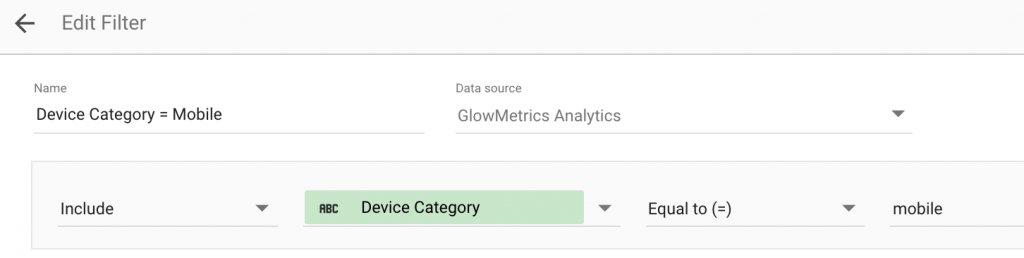 A Single Clause Filter in Data Studio