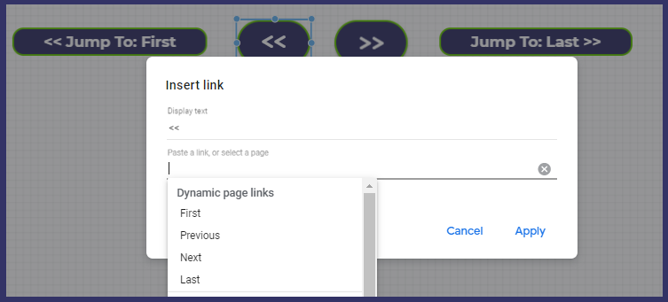 Options for Dynamic Page Links