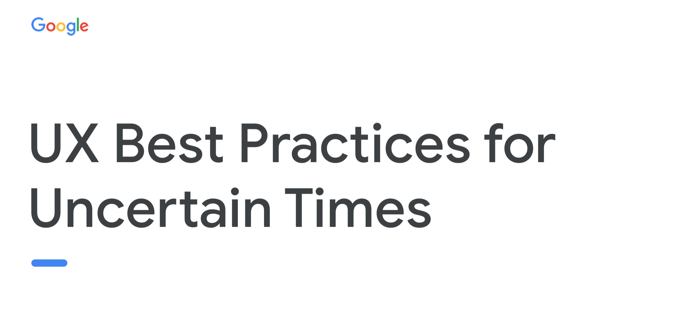 UX Best Practices for Uncertain Times