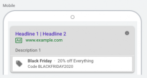 Black Friday Promotion Extensions Google Ads