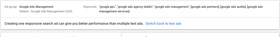 Switch Back to Text Ads