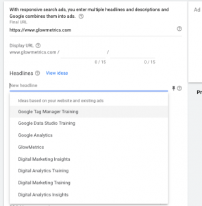 Responsive Search Ad Suggestions