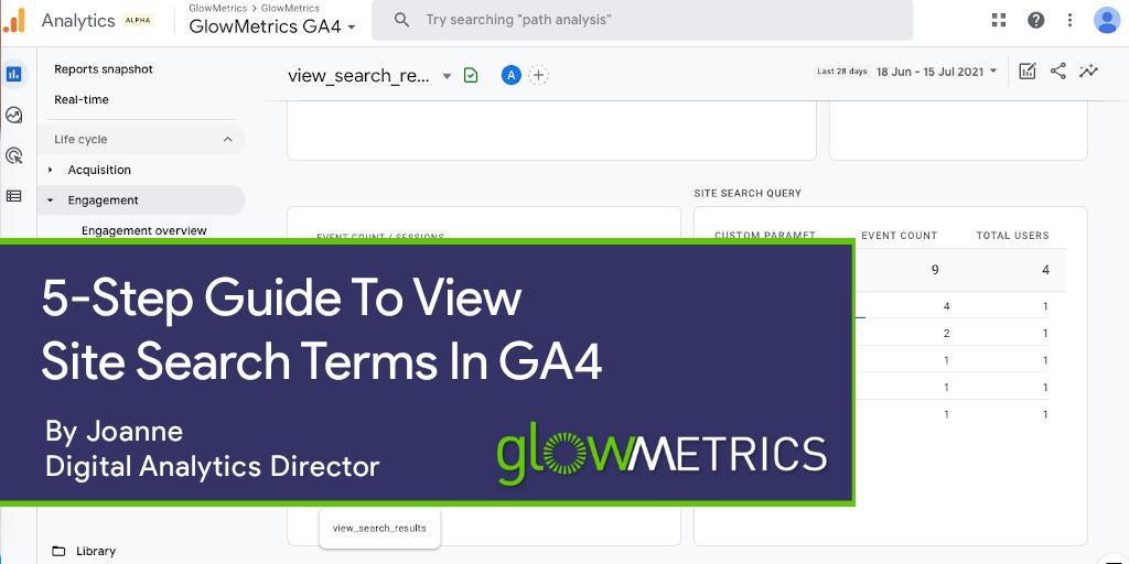 Site Search in GA4